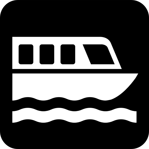 Pictogram for boat dock vector image