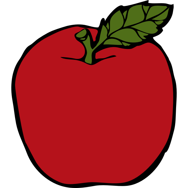 Red apple vector clip art