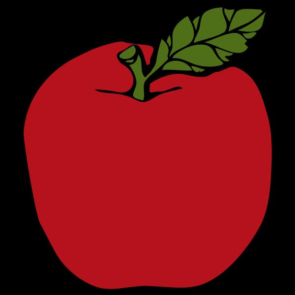 Red apple vector clip art