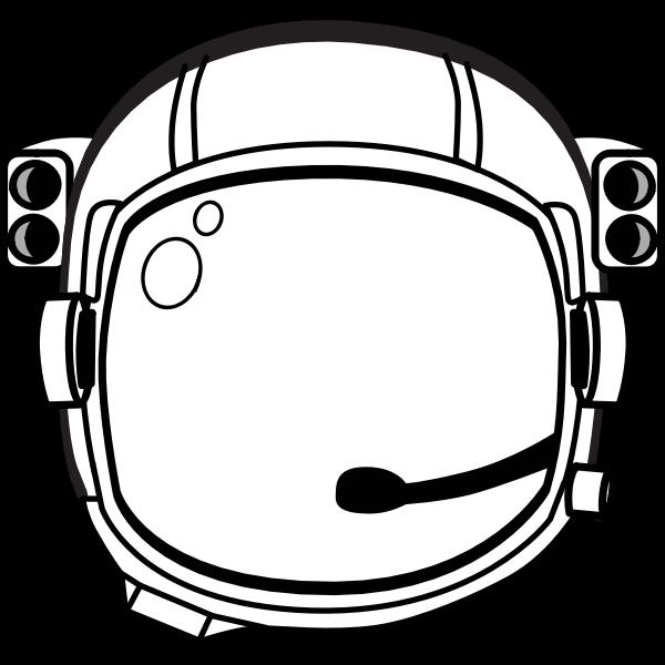 Astronauts helmet vector image