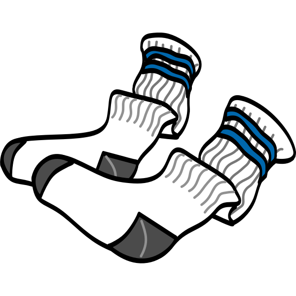 Athletic crew socks vector image