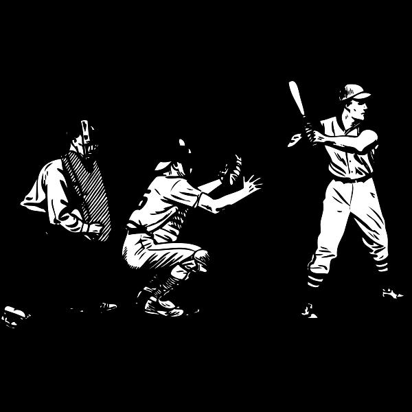 Vector illustration of baseball scene