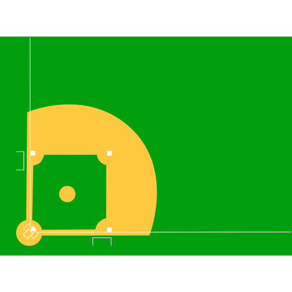 Vector illustration of a baseball diamond