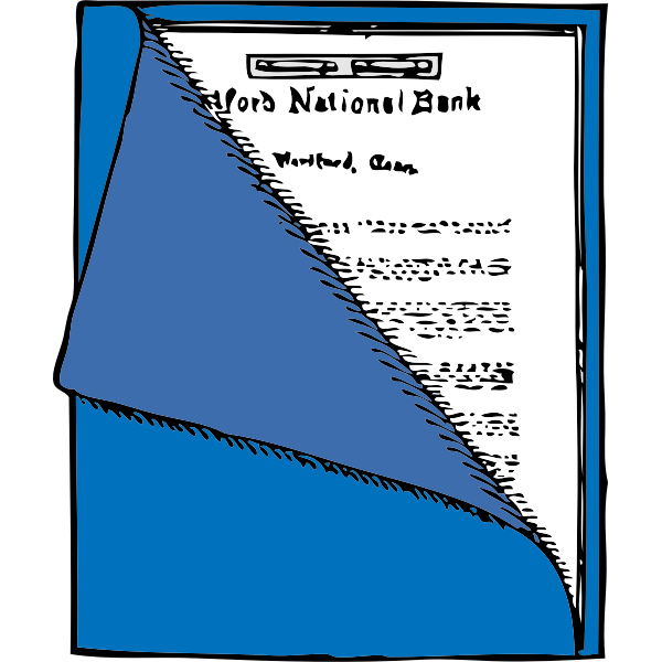 Binder folder graphics vector