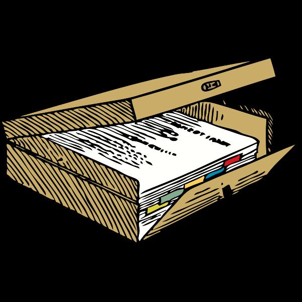 Box file vector image
