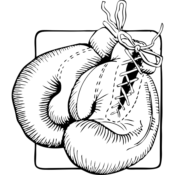 Boxing gloves vector graphics