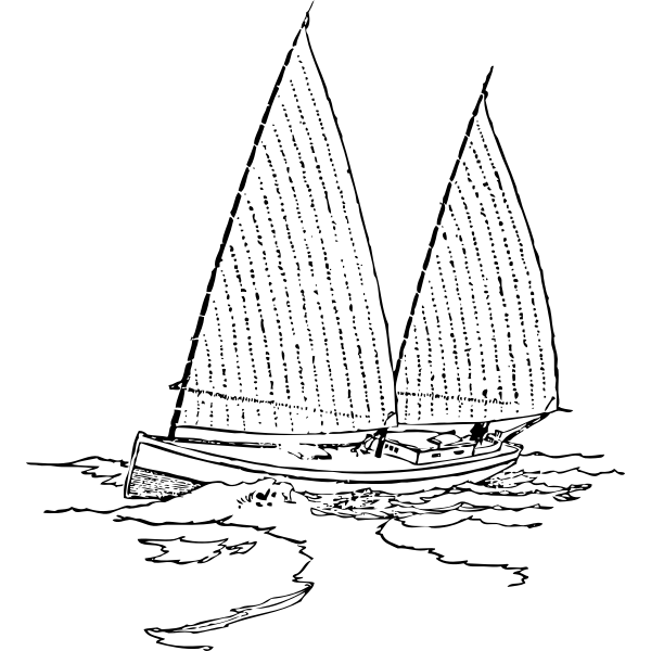 Bugeye sailboat vector image