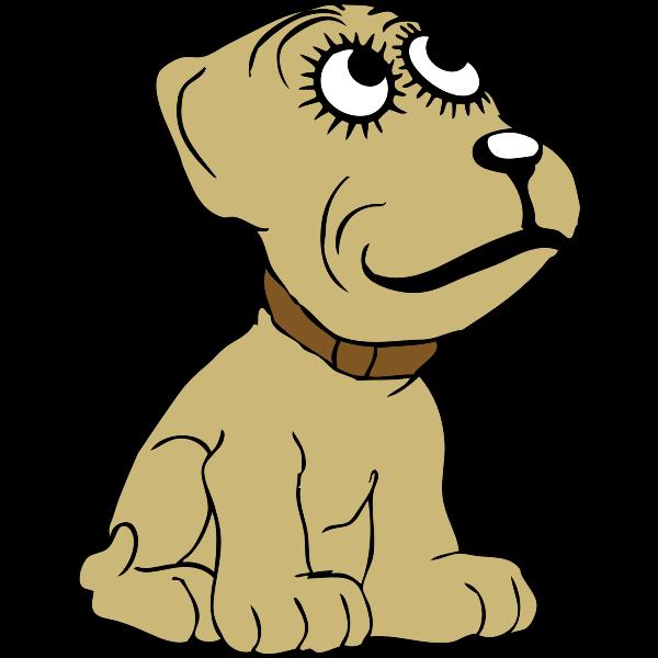 Cartoon Dog Vector Drawing Free Svg