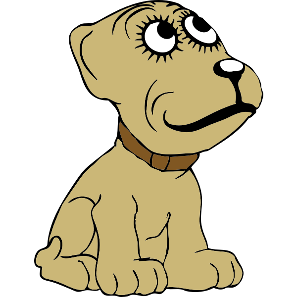 Cartoon dog vector drawing