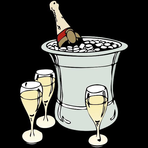 Champagne serving vector image