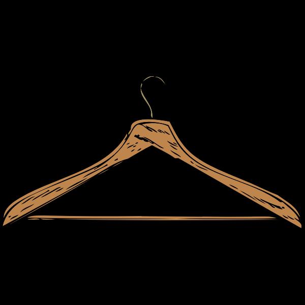 Coat hanger vector image