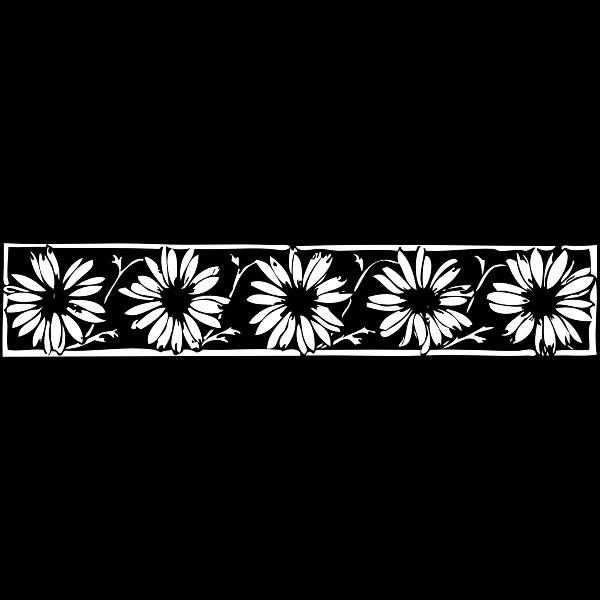 Daisy vector border