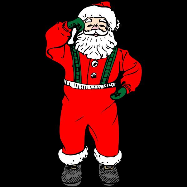 Dancing Santa Vector Art