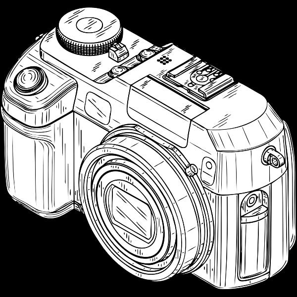 Photo camera vector graphics