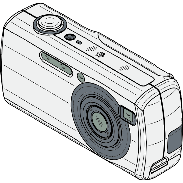 Digital camera vector drawing