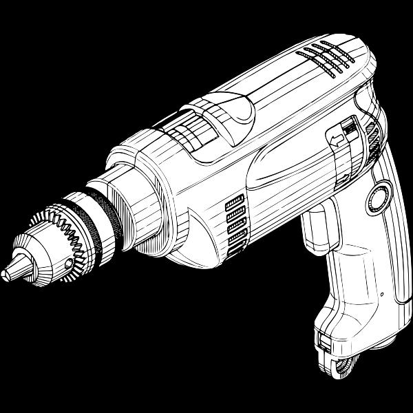 Electric drill vector illustration