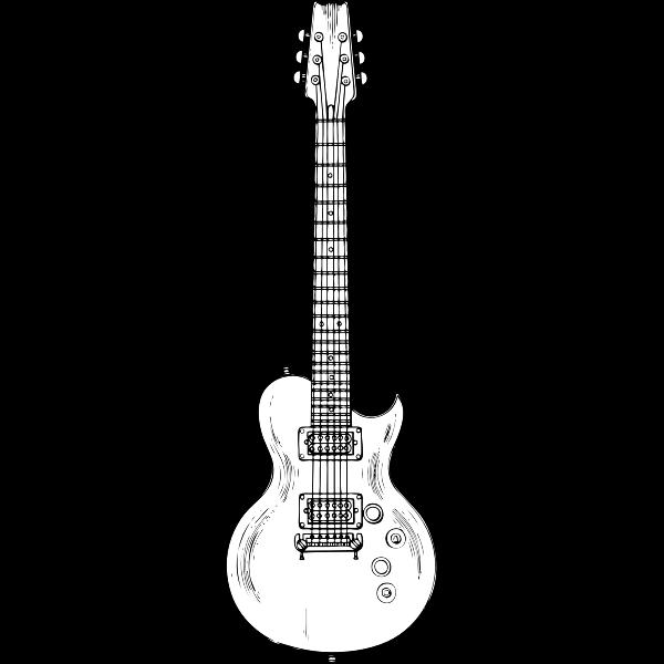 Electric guitar vector graphics