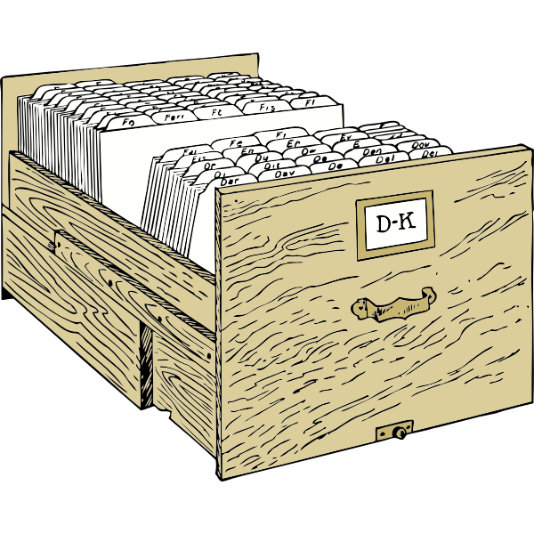 Vector image of file cabinet
