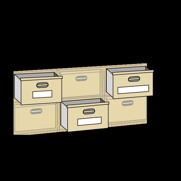 File cabinet drawers vector illustration
