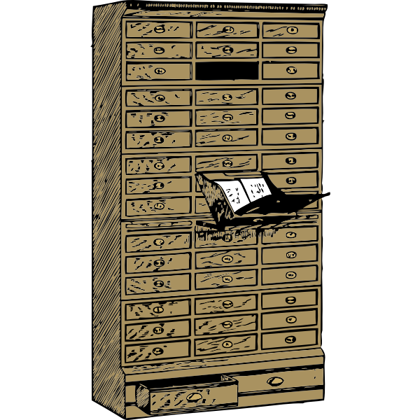 Flat filing cabinet vector image