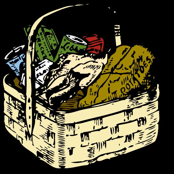 Shopping basket vector clip art
