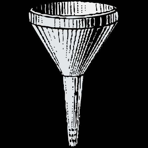 Metal funnel vector image
