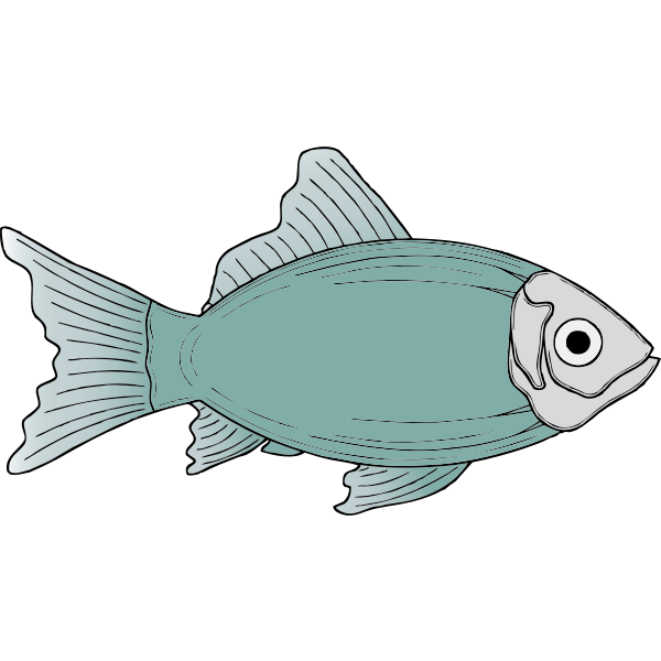 Generic blue fish vector illustration