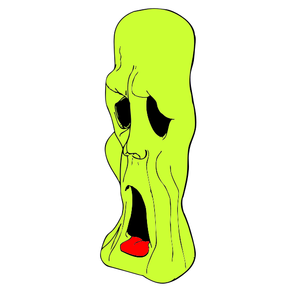 Ghoul head vector illustration