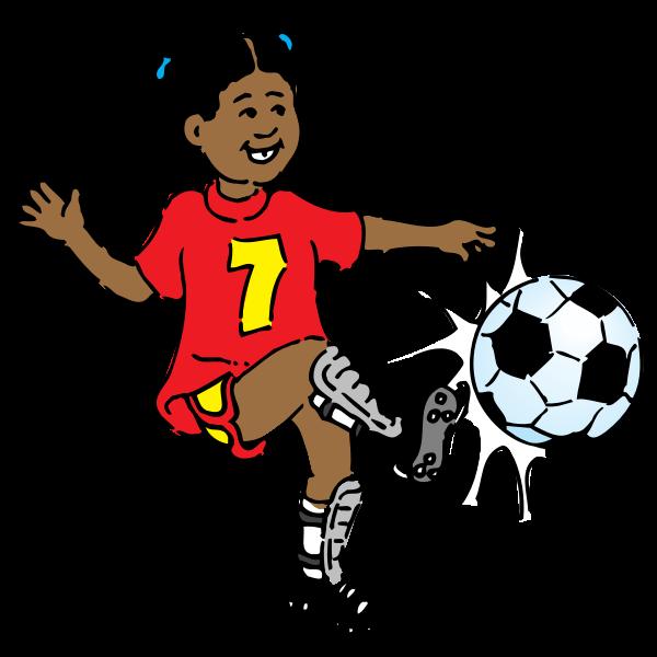 Girl playing soccer vector image