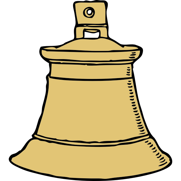 Vector image of gold bell