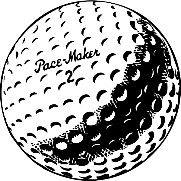 Golf ball vector graphics