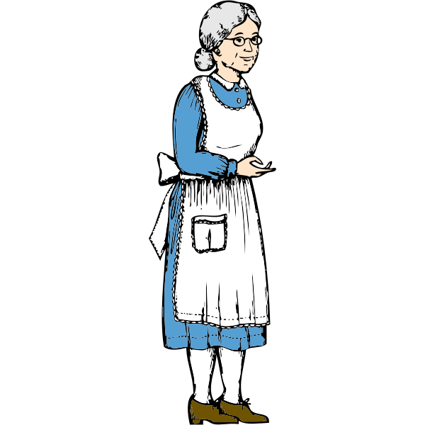 Vector drawing of older woman
