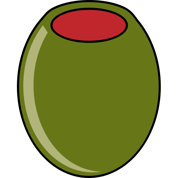 Green olive vector