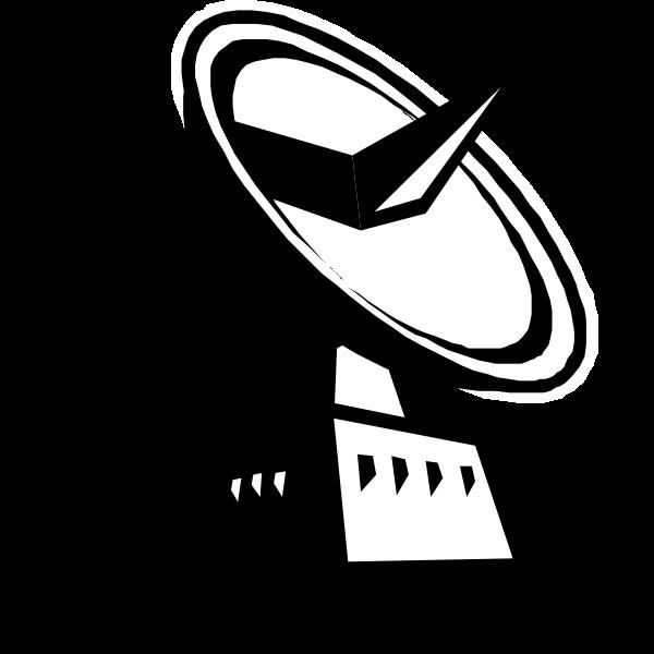 Ground tracking station vector illustration