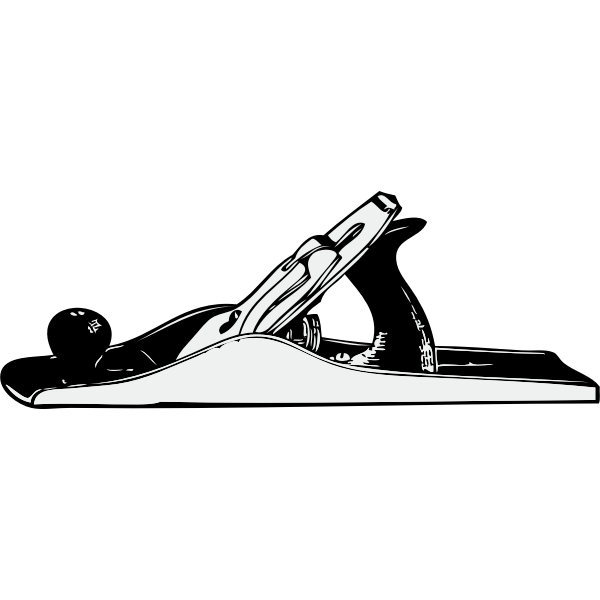 Hand plane vector illustration