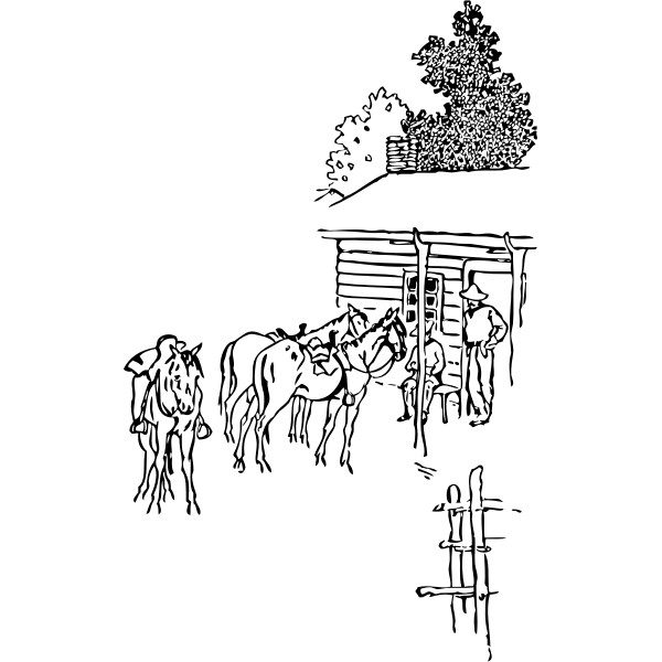 Horse farm vector image