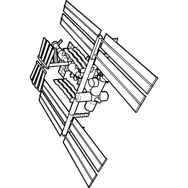 Part of International Space Station vector drawing