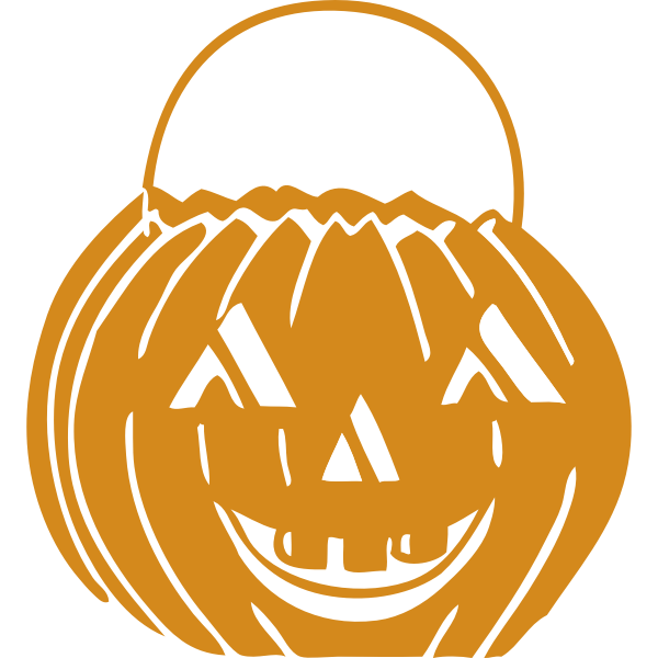 Vector graphics of a Halloween basket