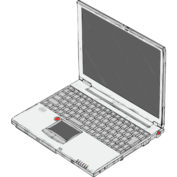 Laptop personal computer vector drawing