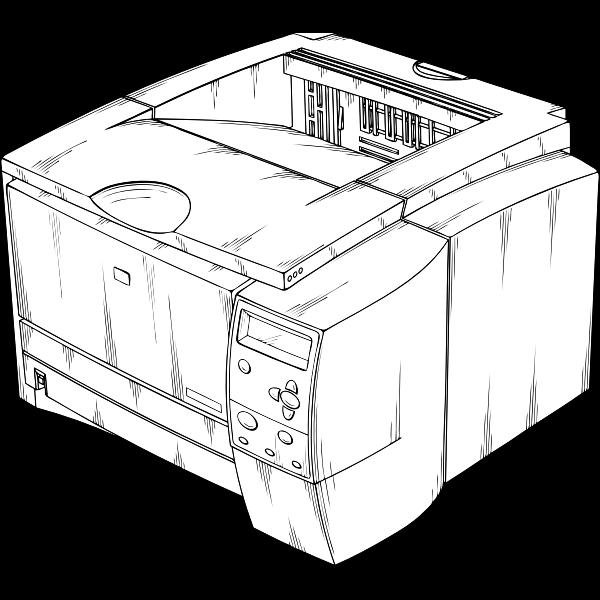 Vector graphics of laser printer
