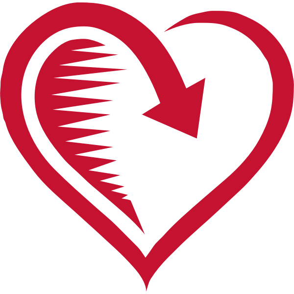 Vector image of returning love