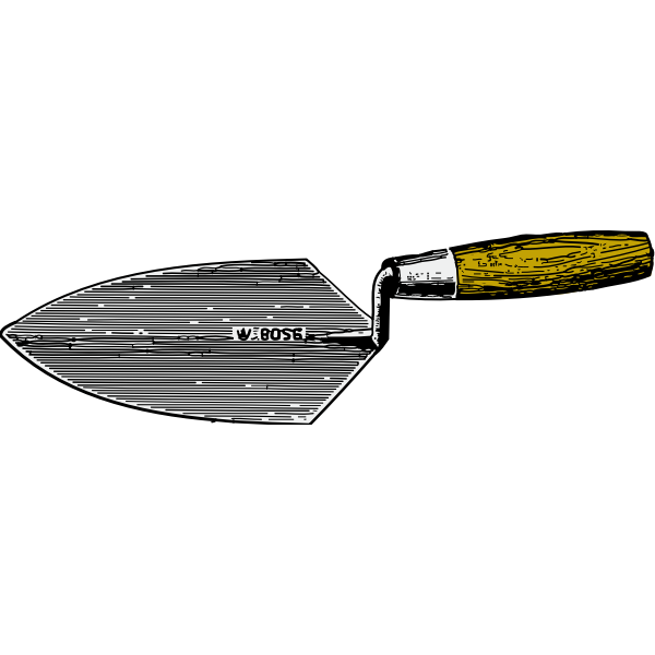 Masons trowel vector image