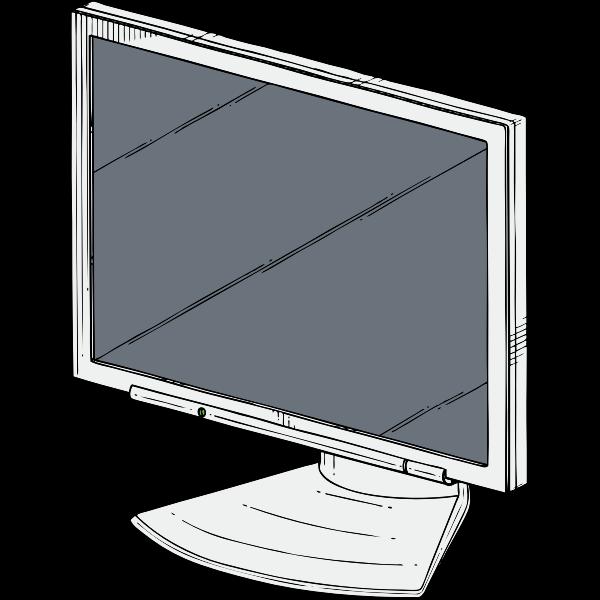PC monitor vector drawing