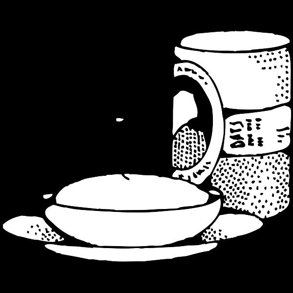 Oatmeal clip art vector