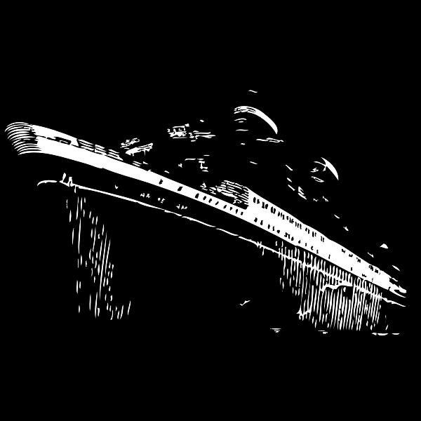 Classic ocean liner vector drawing