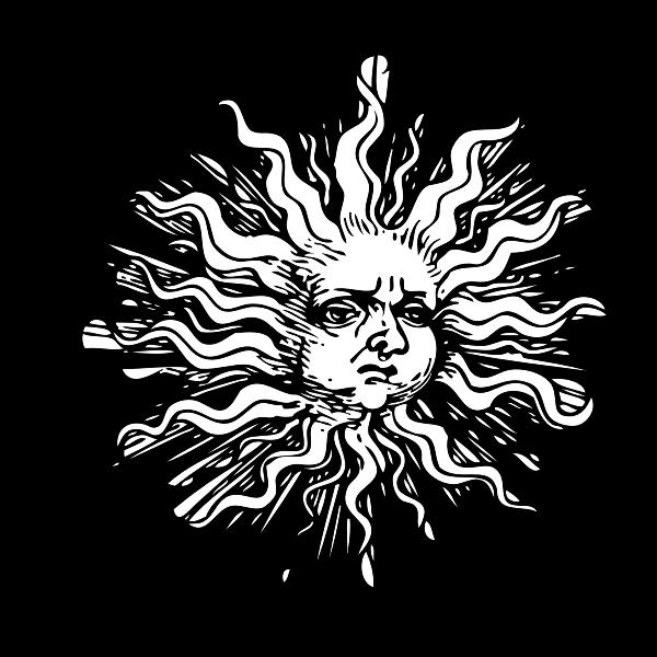 Ornamented sun vector illustration