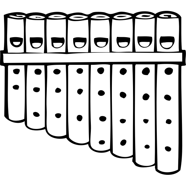 Pan pipes vector graphics