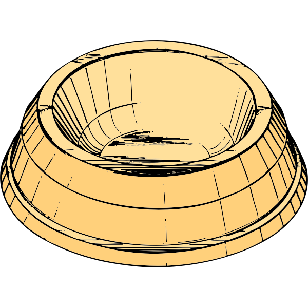 Vector clip art of a pet dish