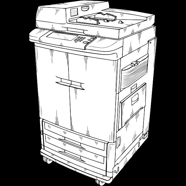 Vector clip art of photocopier