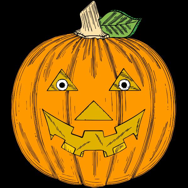 Fresh Halloween pumpkin vector clip art
